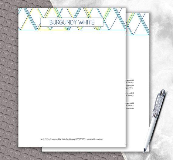 Geometric Shape Letterhead Design Download Multi Color