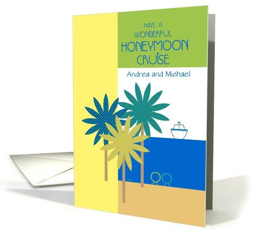 10 best honeymoon heaven images on pinterest honeymoons card honeymoon cruise bon voyage ship tropical design custom names card personalize any greeting card for no additional cost cards are shipped the next m4hsunfo