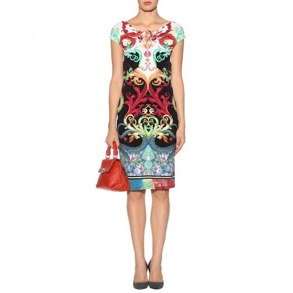 Roberto Cavalli Printed Dress ($1,135) ❤ liked on Polyvore