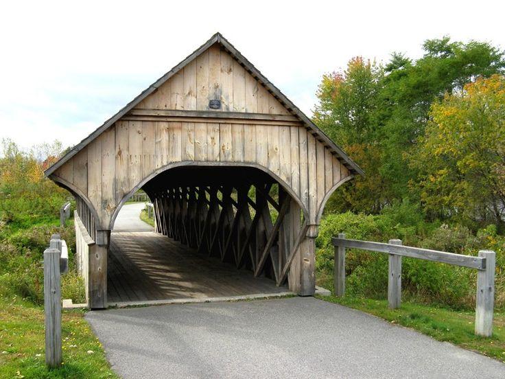 Covered bridge in Bethel, Maine.                                                                                                                                                     More