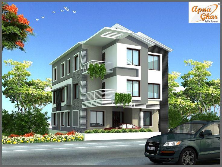 11 Bedroom, Modern Triplex (3 Floor) House Design. Area: 247 Sq