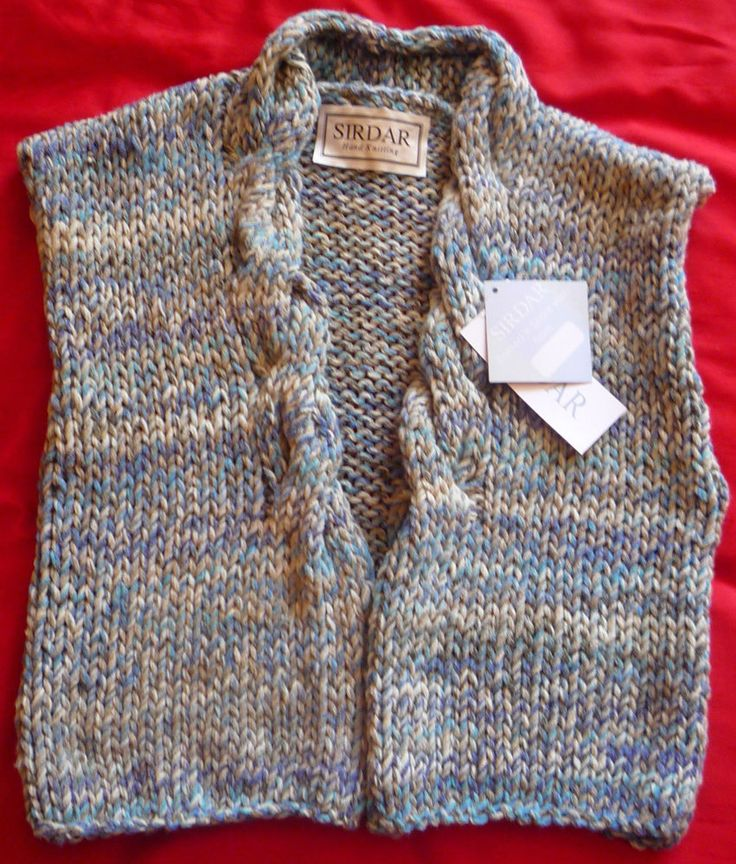 Ladies Hand-knitted Chunky Waistcoat