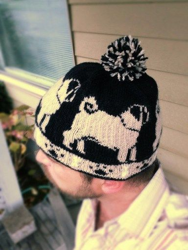 Pug Love Beanie Free Knitting Pattern and more free dog knitting patterns