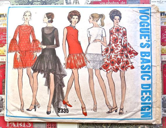 Vogue 2335  Vintage 1960s Womens Evening Dress by Fragolina, $65.00