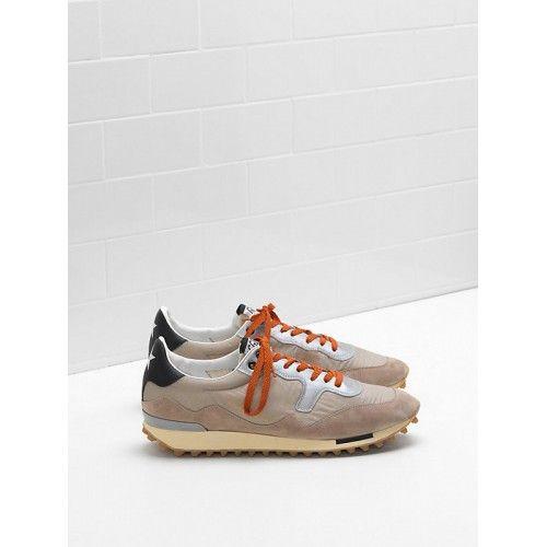Cheap lebanon 2017 Golden Goose DB Sneaker Mens STARLAND Gray Orange G31MS456.C1 Sale