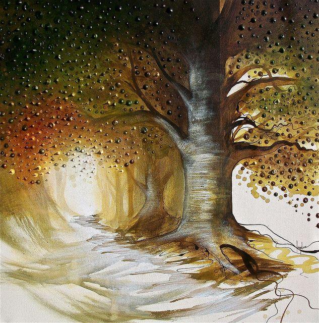 Custom Wedding Accessories Savannah Live Oak Thumbprint: 17 Best Images About Watercolor- Oak Trees On Pinterest