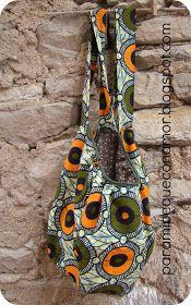 Bolso saco en tela africana