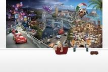 Cars all over - Disney - Cars - Fototapeter & Tapeter - Photowall