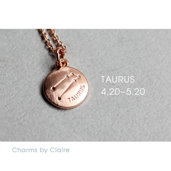 Hey, I found this really awesome Etsy listing at https://www.etsy.com/listing/450496406/taurus-zodiac-disc-charms-rose-gold