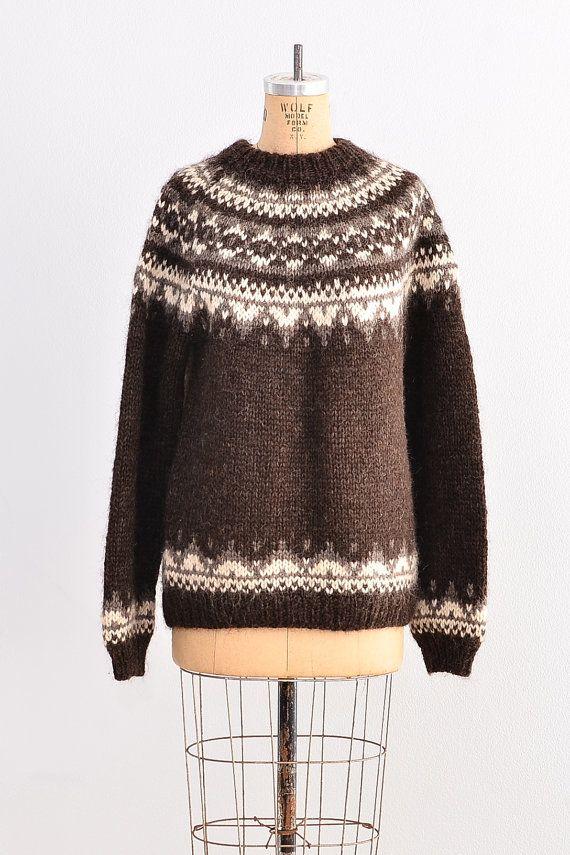 vintage 1960s Icelandic sweater wool sweater / by PickledVintage
