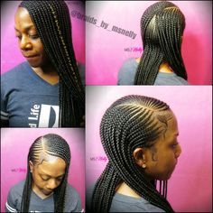 Small feeders, braids, lemonade braids, 2 layer braids, neat braids, goddess braids
