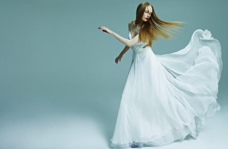 White mousseline dress