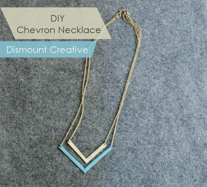 DIY Chevron Necklace, simple, lovely!
