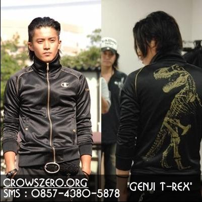 Jaket Crows Zero - Takiya Genji T-Rex dinosaurus