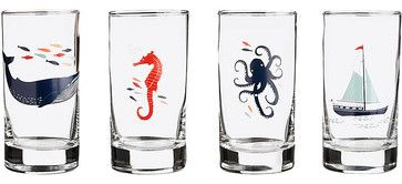 Nautical Glasses - contemporary - cups and glassware - Paper Source