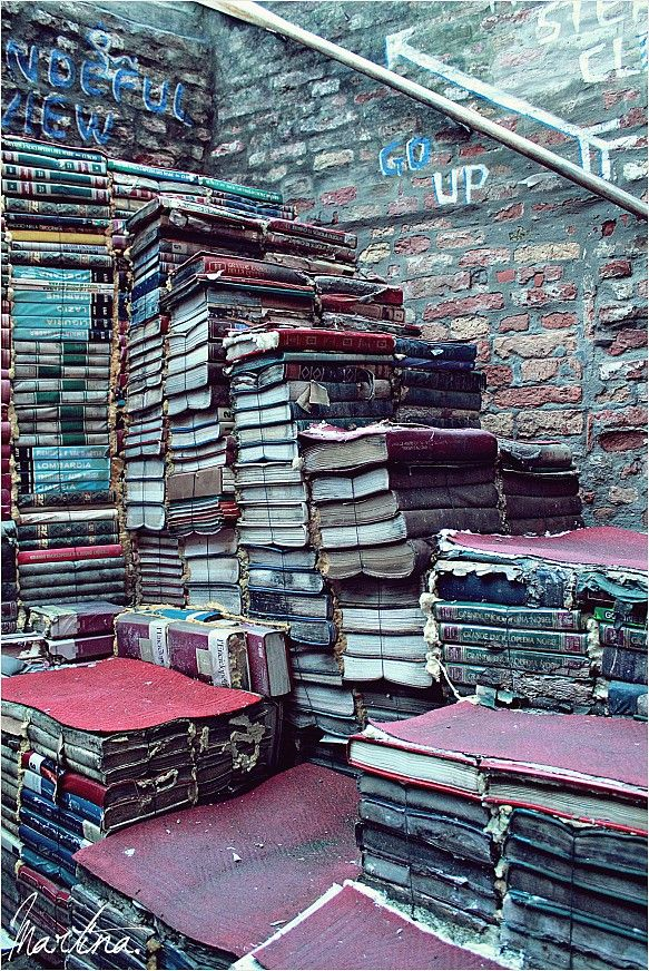 """Culture helps you to go beyond borders. """"A staircase made of books. Because culture can lead you everywhere."""" @Martina Sgorlon"""