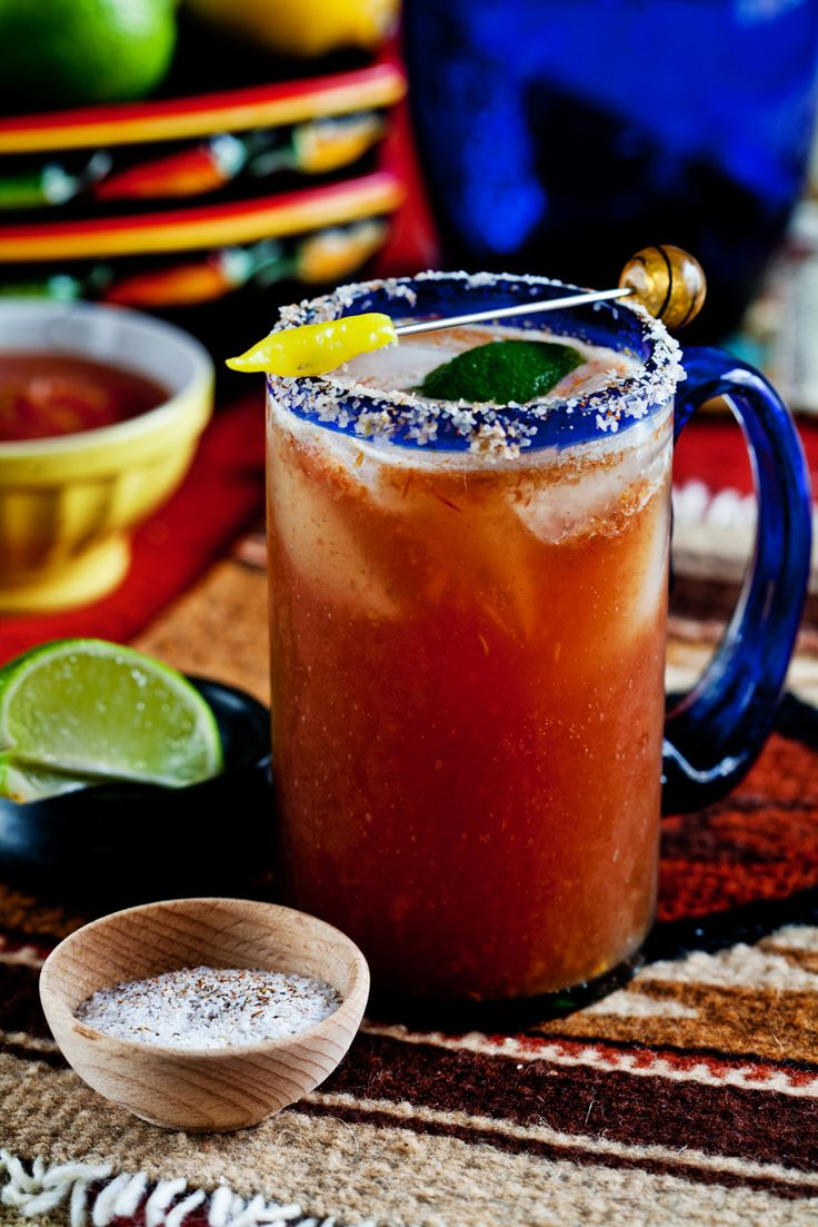 When most people talk about a Michelada, they describe it as a Bloody Mary that's made with beer instead of vodka Mexican drink.