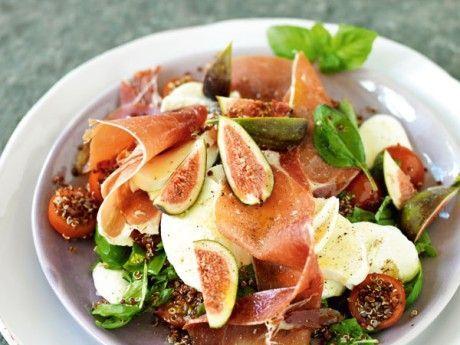 Quinoa med fikon, serrano och mozzarella