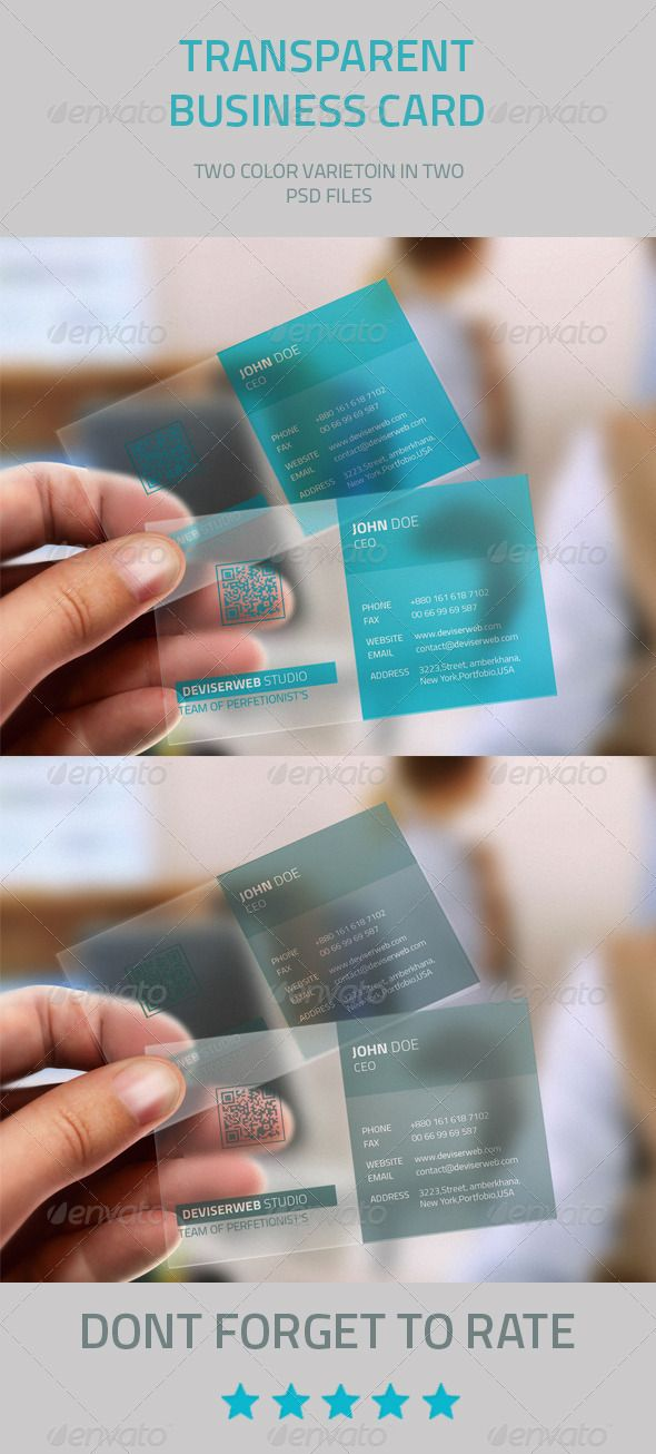 Transparent Business Card  #graphicriver