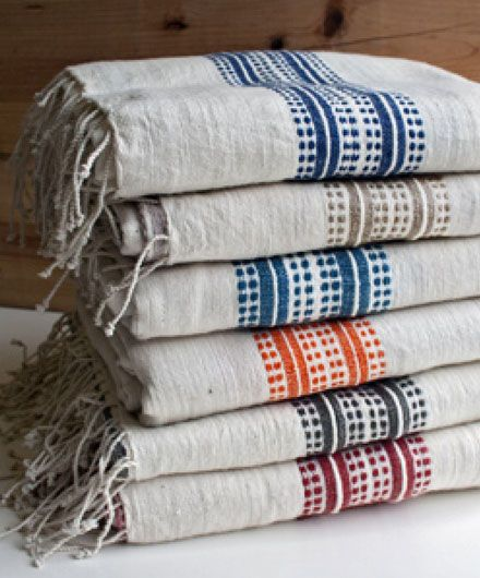 Fair Trade Striped Turkish Cotton Bath Towels | SHOP NECTAR: Home of fair trade and unique gifts, teas, architectural details, reclaimed and custom furnishing from around the world all in High Falls, NY