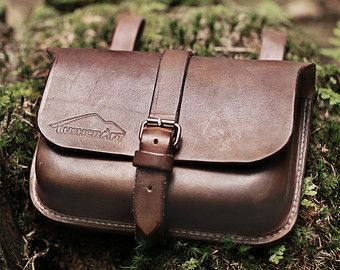 Leather Belt Pouch / Bushcraft pouch / by DavidSuskaHandcraft