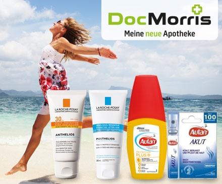 Geschützt in den Sommer mit DocMorris! Medikamente, Sonnenschutz und mehr bequem online bestellen und bis zu 15 € sparen!
