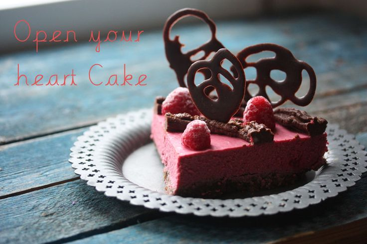 Open Your Heart Cake: Raw Desserts, Raw Cakes, Raw Vegans, Raw Raspberries, Raw Chocolates, Vegans Desserts, Chocolates Raspberries Cakes, Heart Cakes, Raw Food