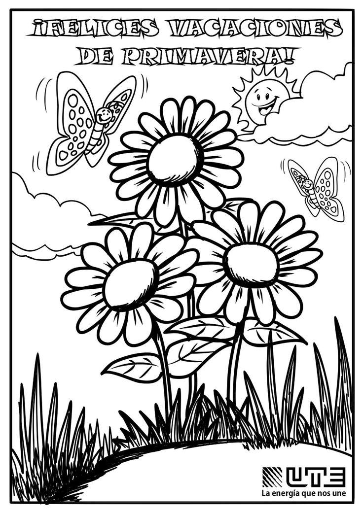 Oltre 25 fantastiche idee su Dibujos primavera su ...