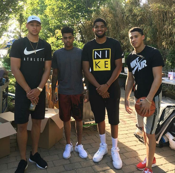 Ben Simmons, D'Angelo Russell, Karl-Anthony Towns, & Devin Booker.