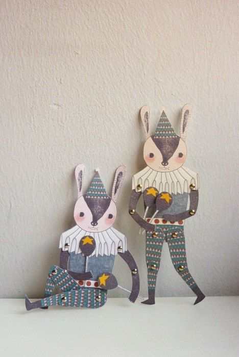 paper doll  http://www.etsy.com/listing/70957445/mr-rabbit-articulated-paper-doll-set