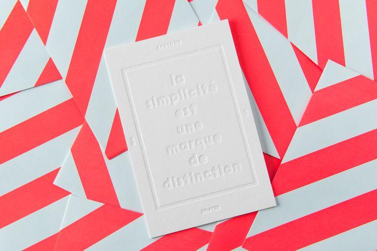 """""""La simplicité est une marque de distinction"""" - studio ACETONE  2017"""