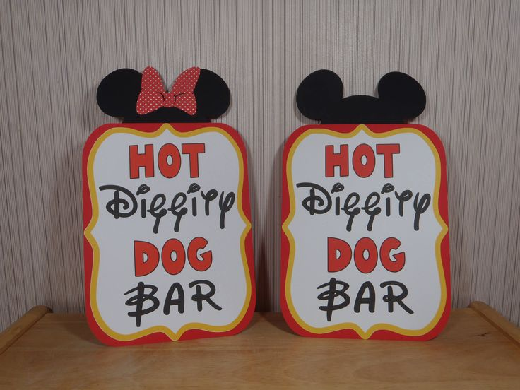 Mickey Mouse Birthday Sign, Hot Diggity Dog Bar Party Decoration, Mickey Mouse Clubhouse Party by FeistyFarmersWife by FeistyFarmersWife on Etsy https://www.etsy.com/listing/499385669/mickey-mouse-birthday-sign-hot-diggity