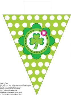Banner St. Patricks Day printable Party Decorations