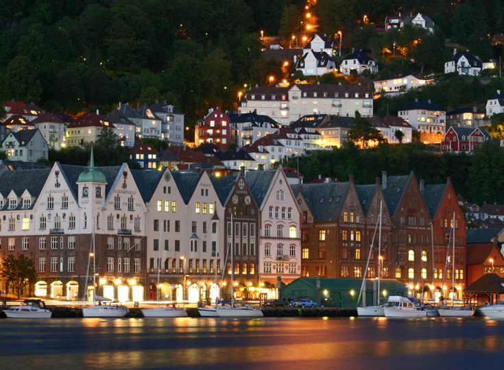 Bergen Harbor III - Bergen Norway by Fredrik Henriksen