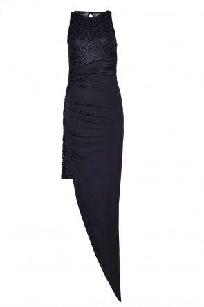 Lipsy Lace Slinky Thigh Split Maxi Dress