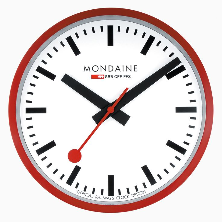 Swiss railway clock - The legendary classic as a stylish accessory for home, hotel lobbies, restaurant, office...