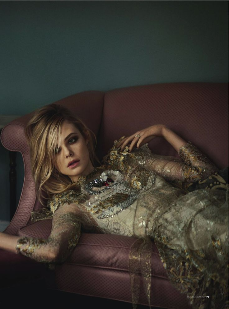 """Smells Like Teen Spirit"" Elle Fanning for Vogue Australia March 2016"
