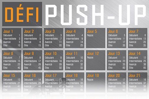 Sortez de votre zone de confort! Relevez le Défi Push-Up!