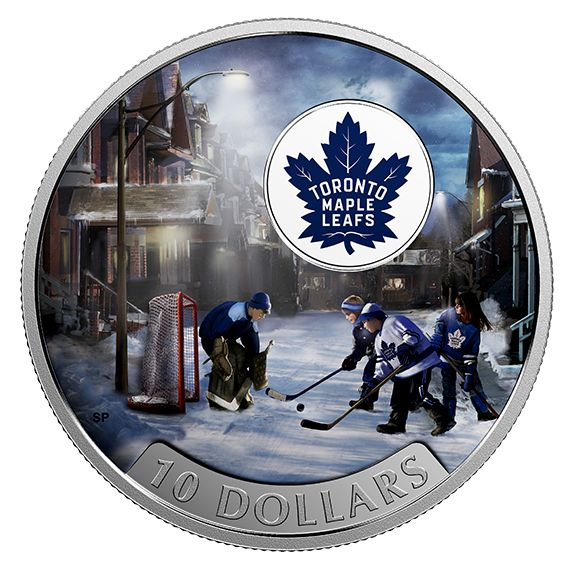 1/2 oz. Pure Silver Coloured Coin - Passion to Play: Toronto Maple Leafs® (2017)