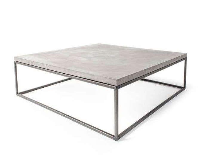Table basse - Table en béton - béton Top - Table basse en béton