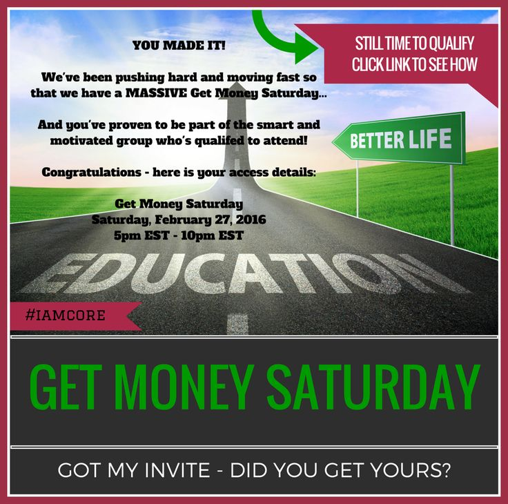 """HERE'S HOW YOU CAN STILL QUALIFY FOR THE """"GET MONEY SATURDAY"""" AT A DISCOUNT TOO!!  Last chance! $300 Price Increase At Midnight EST! This is your last chance to claim your  $700 discount, because the price is  increasing by $300 at midnight EST tonight:  Click the LINK BELOW NOW to claim your spot.  This is YOUR chance to learn the secret strategies from the Million Dollar earners in the Company.  They are going to REVEAL how they are sponsoring 20+ people a day CLICK IMAGE NOW !!"""