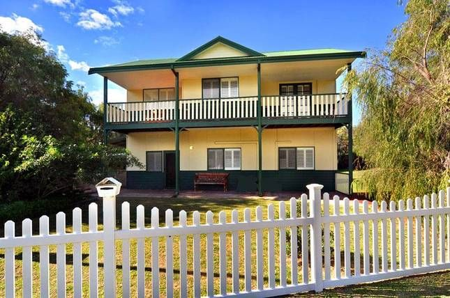 Clem & Tines Vintage Beach House  in Binningup | Stayz - looks lovely and amazing verandah overlooking the property. Sleeps up to 7 with 3 bedrooms. $300pn +$150 cleaning