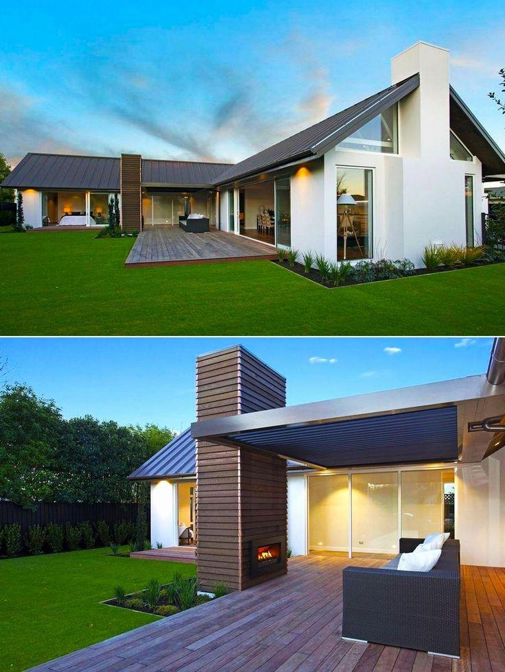 Bangalô L forma Unique House Design   – Haus