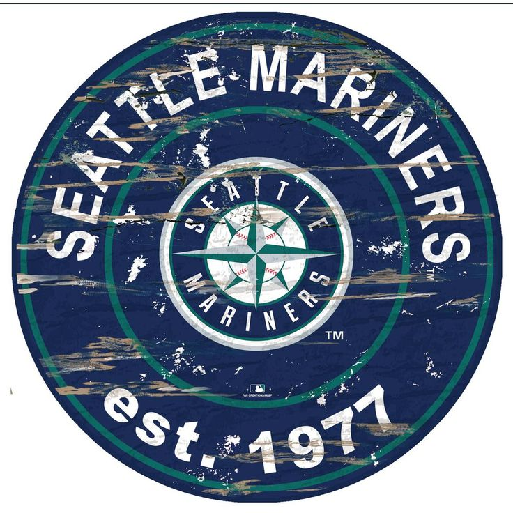 """Fan Creations MLB Seattle Mariners 24"""""""" Distressed Wooden"""