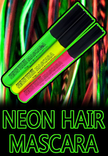 Blacklight Neon Hair Mascara Set. [For if I do the Electric Run again next year. Didn't find this in time for shipping]