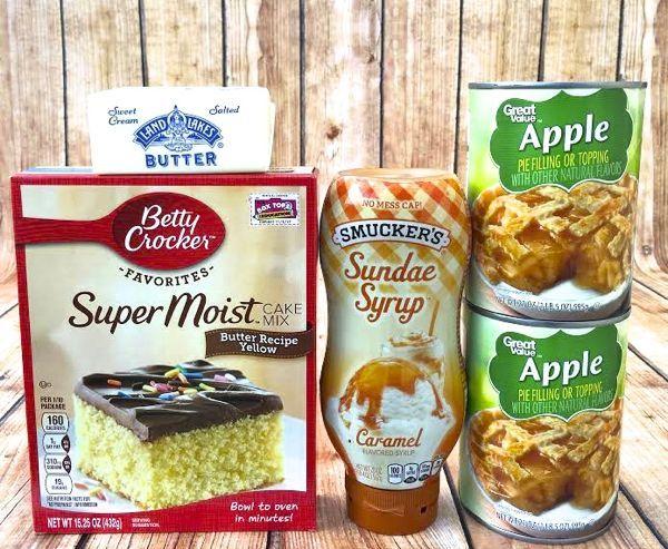 Easy Crock Pot Caramel Apple Dump Cake Recipe!