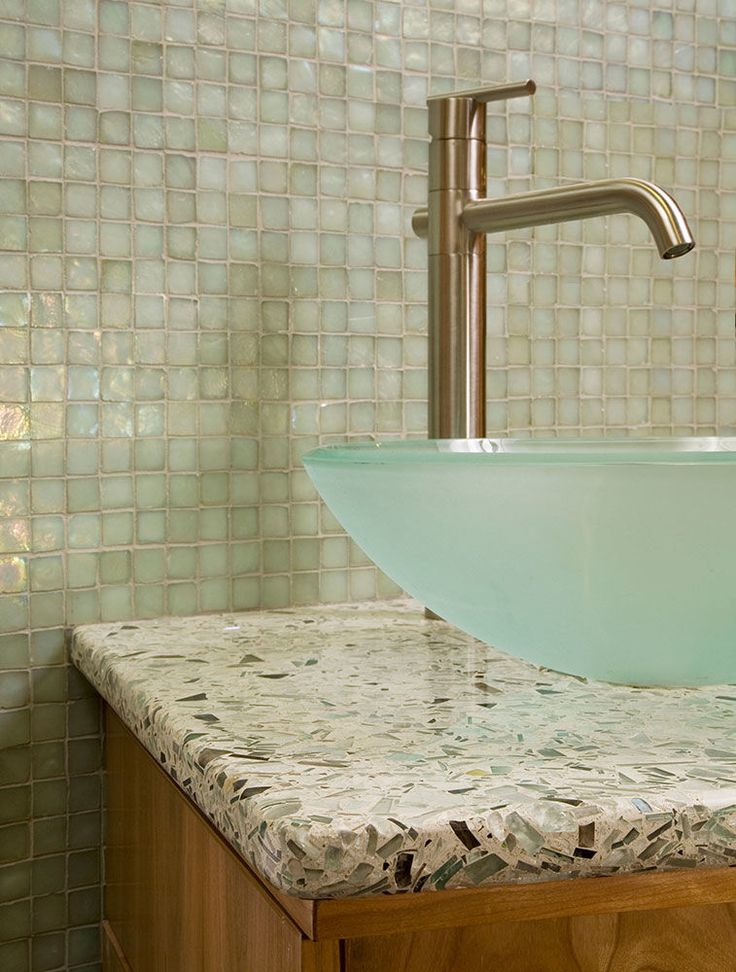 48 best vetrazzo images on pinterest the stone recycled for Recycled bathroom sinks
