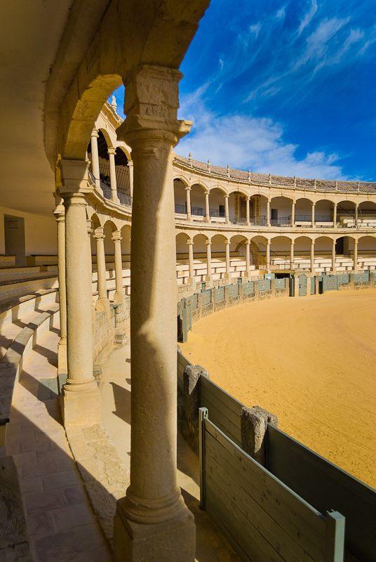 """Ronda - Plaza de Toros"" - Spain - by Jaime Solano    I was here for running of the bulls in 2007...seems like yesterday."