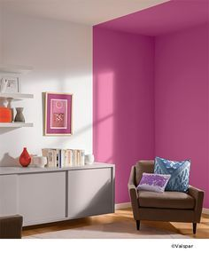 Divide Your Room With Crisp Clean Lines Valspar Passionate Peony Available At Ace Brings A Fun And Feminine Touch To This