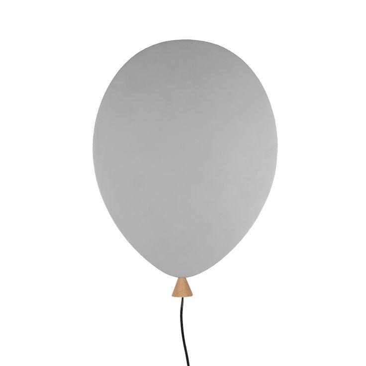 Balloon vegglampe, grå i gruppen Belysning / Lamper / Vegglamper hos ROOM21.no (1030777)
